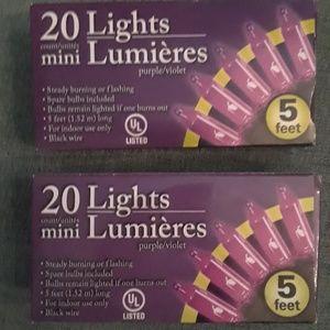10 ft purple lights